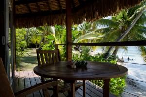 Terrasse bungalow plage