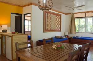 Salle à manger salon bungalow vanille